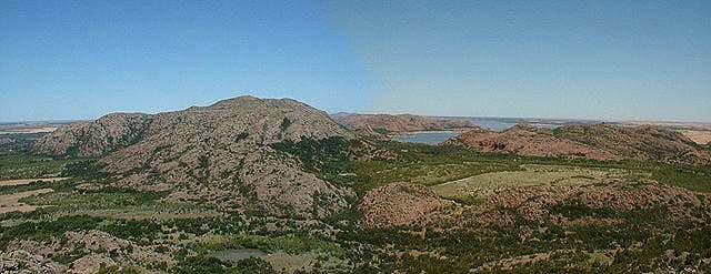 Panorama of King Mountain...