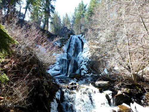 Waterfall 3 1/2 miles up the Hunter Creek Trail