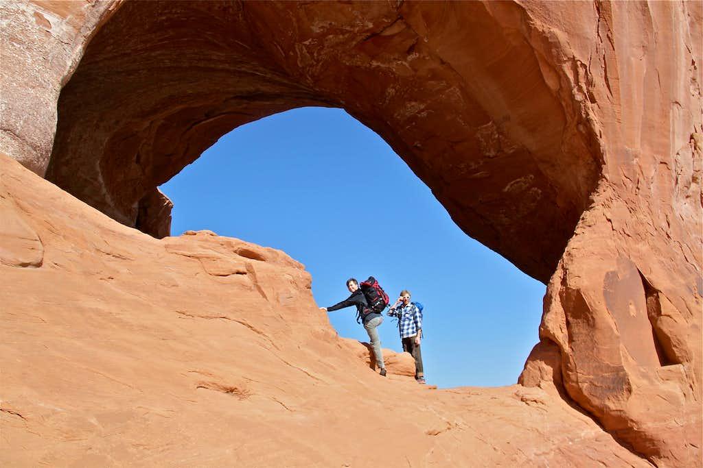Scramble to the climb