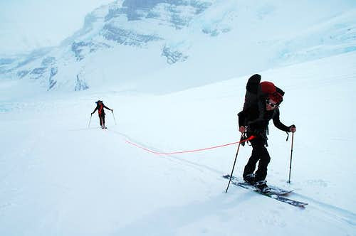 Skinning Up to the Columbia Icefield