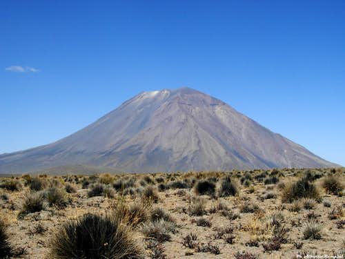 Volcan El Misti seen from the