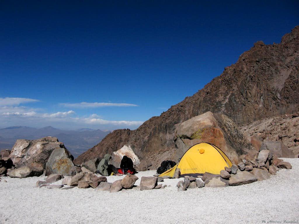 Nevado Chachani - La Azufrera Camp (Camp I)