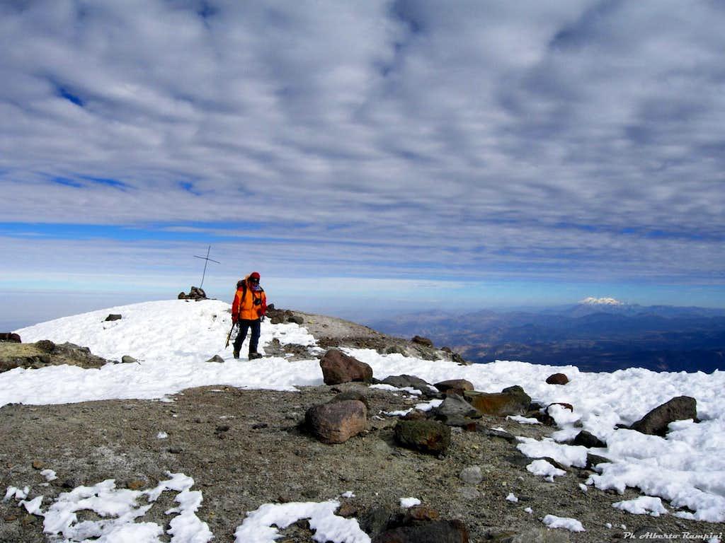 The summit of Nevado Chachani