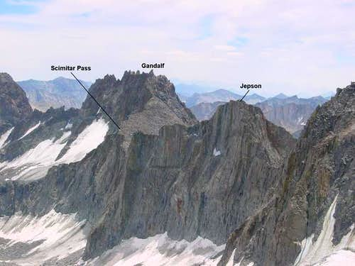Palisade Crest viewed from...
