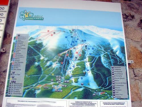 Map of ski resort