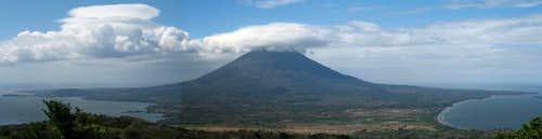 Volcán Concepción from Volcán Maderas