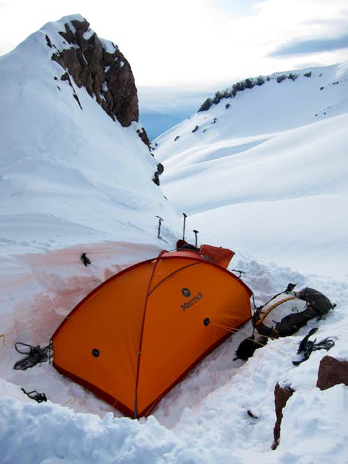 Camp on Green Butte Ridge