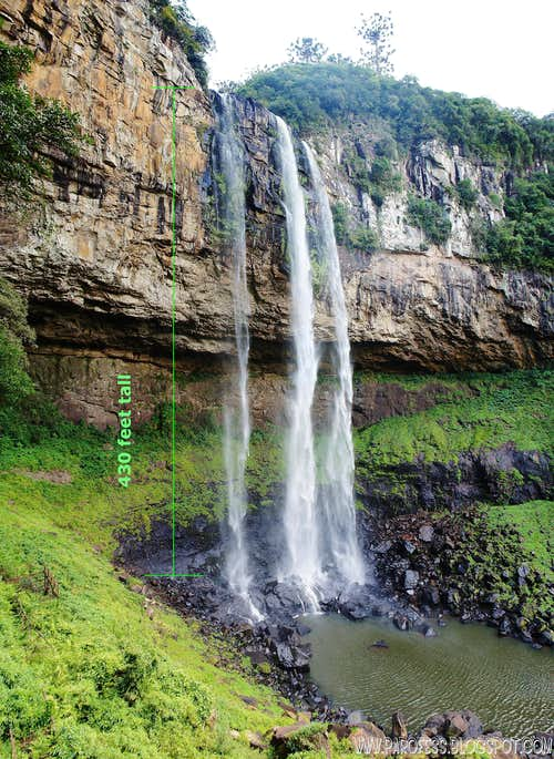 Caracol waterfall info