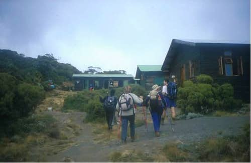 Arrival at Saddle Hut....