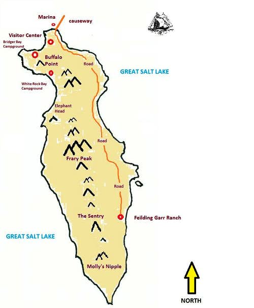 Antelope Island Map