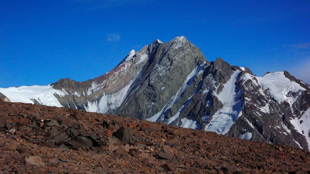 Loma Larga (5404m) close up from camp 1