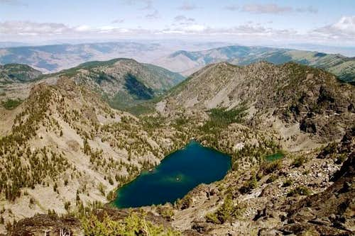Sheep Lake from the summit of...
