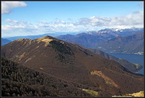 Monte Paglione group from Monte Gambarogno