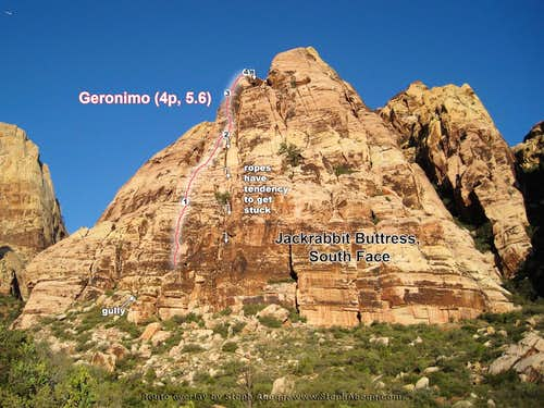 Geronimo Route Overlay (Red Rocks, NV)