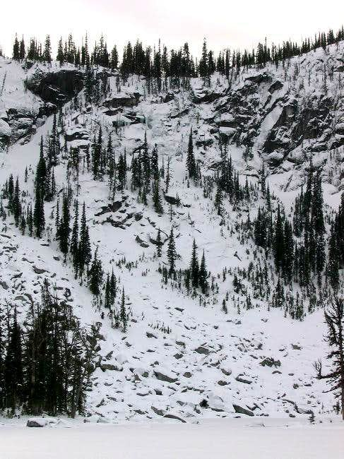 Pyramid Falls (top middle), a...