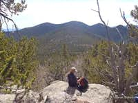 Summit views toward Stoll Mountain