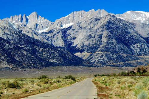 The road to Whitney Portal