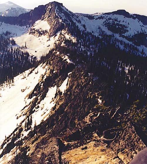 Looking Down the S.W. Ridge