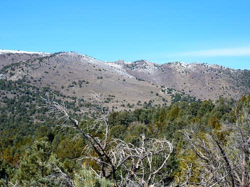 Mineral Peak east face April 15, 2012