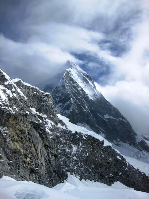 NE ridge of Huascarán Sur