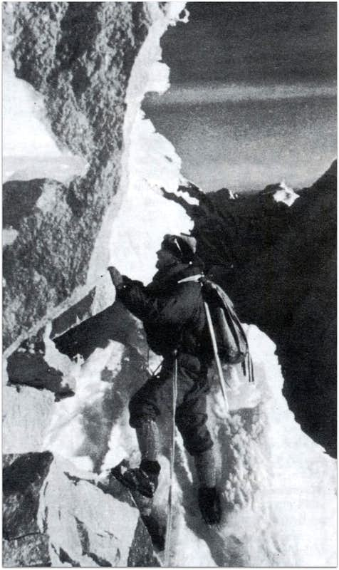 Terray on Chacraraju North-East face (Cordillera Blanca)