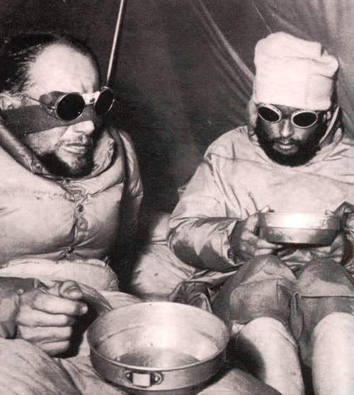 Terray with Lachenal during Annapurna Expedition
