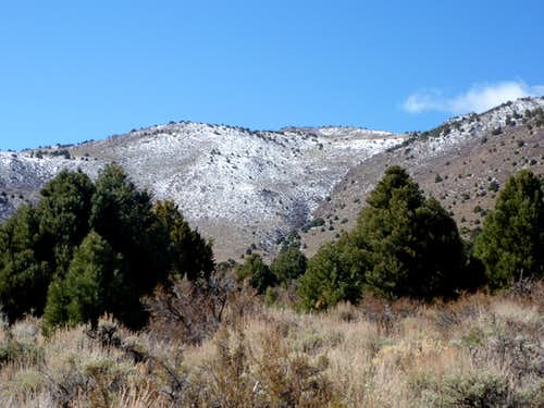 East face of Mineral Peak - April 15, 2012