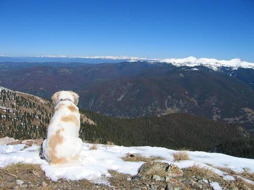Raymond atop Ute Peak with...