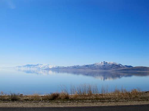 Antelope Island from Causeway