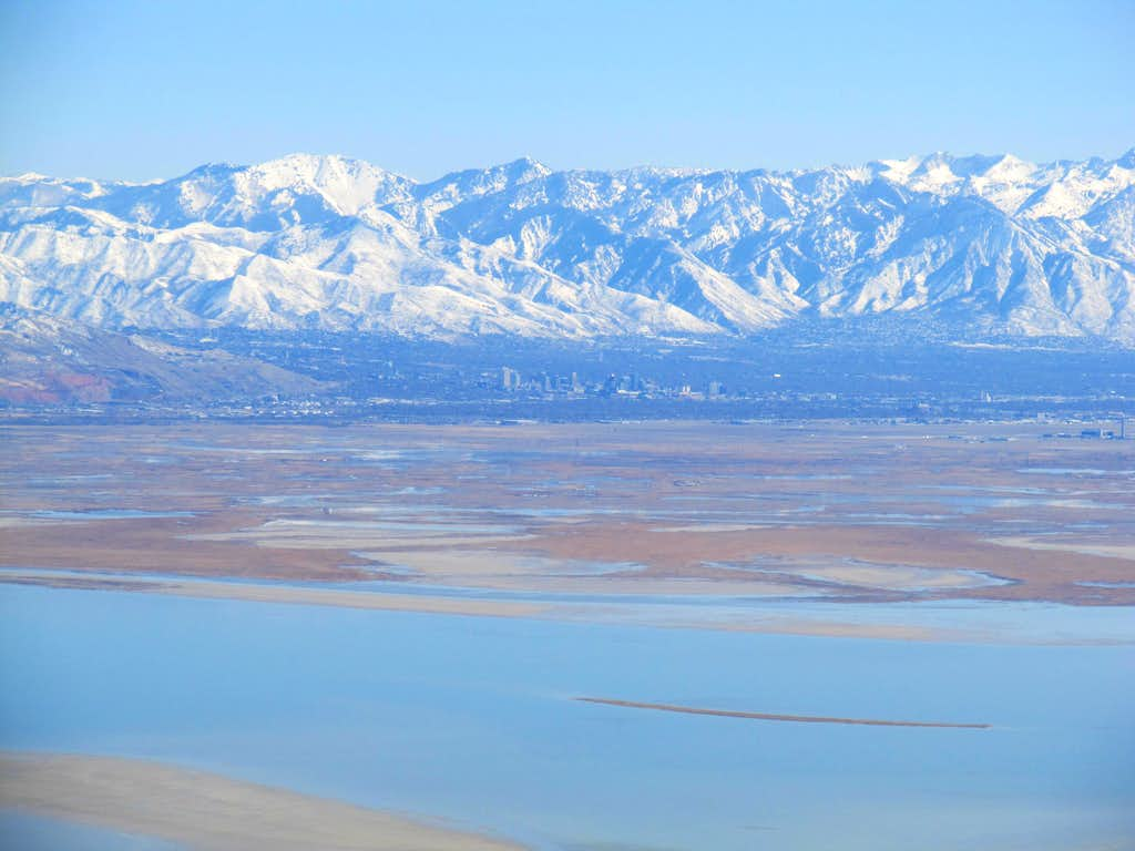 Zoom of Salt Lake City