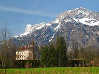 Anif Castle and Untersberg