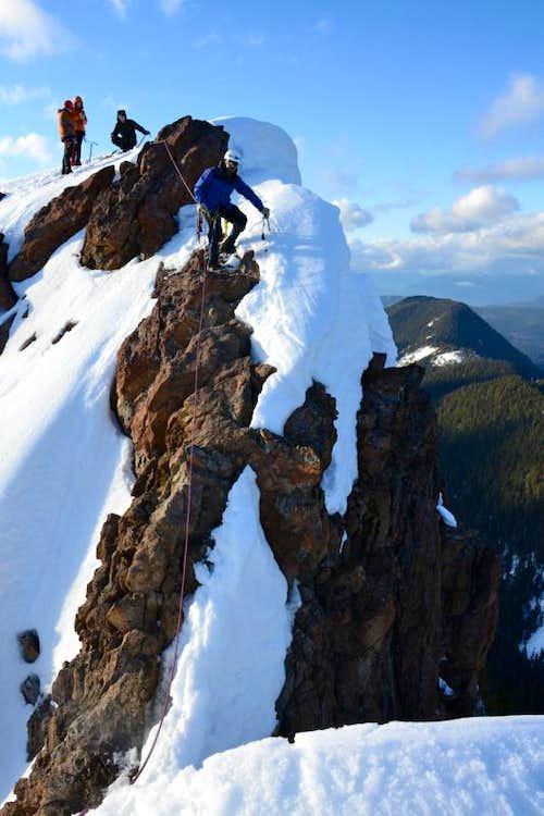 Rock scramble to summit