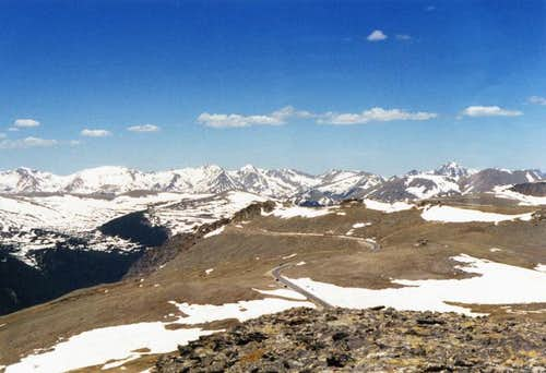 Looking west from the summit...