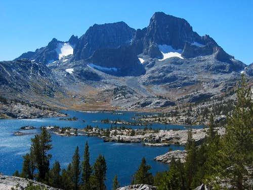 Mt. Ritter (L), Banner Peak...