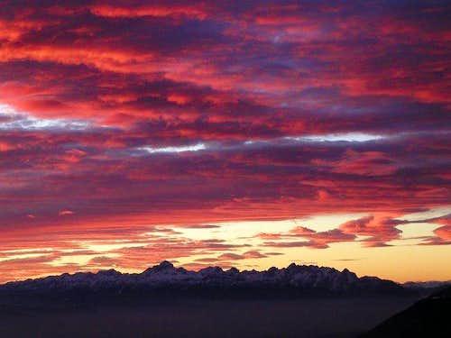The beautiful sunset above...