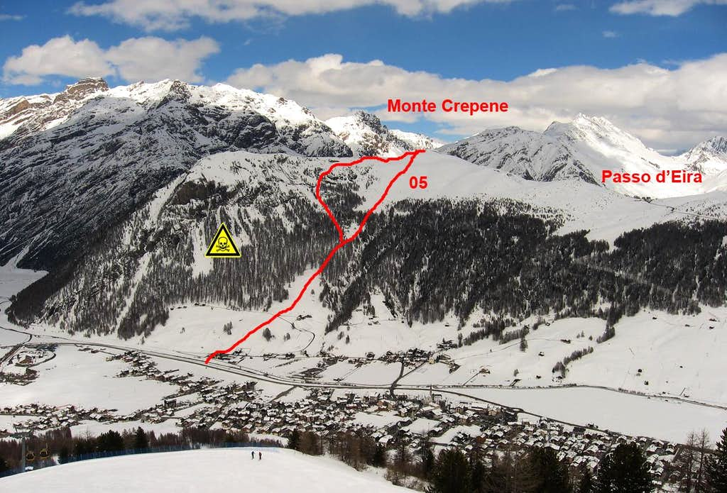 The route from  Monte Crepene
