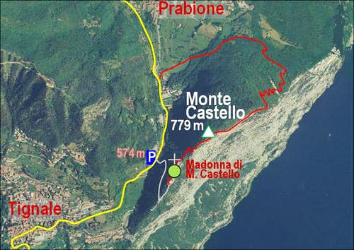 Monte Castello map