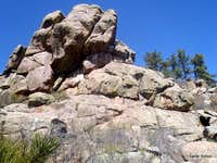 Rock outcrops near summit