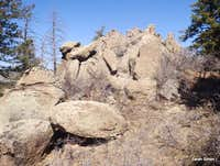 Summit area rock outcrops