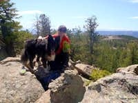 Kodi and  mom  on the summit