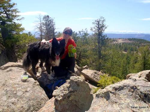 "Kodi and ""mom"" on the summit"
