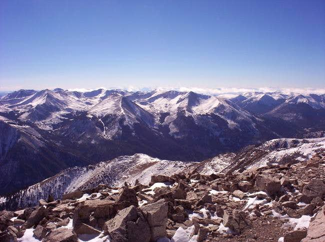 View from Mount Princeton...