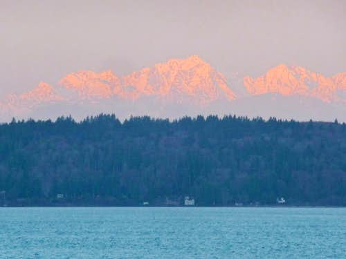 Mount Constance during Sunrise