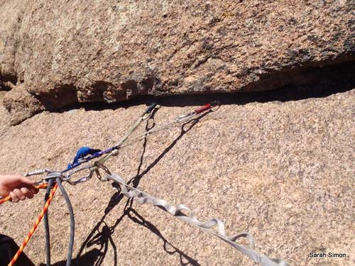 First belay setup