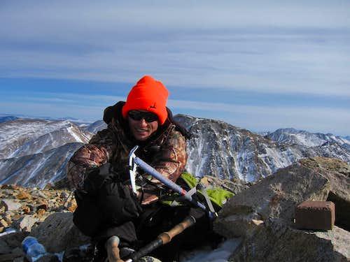 Josh on the summit...