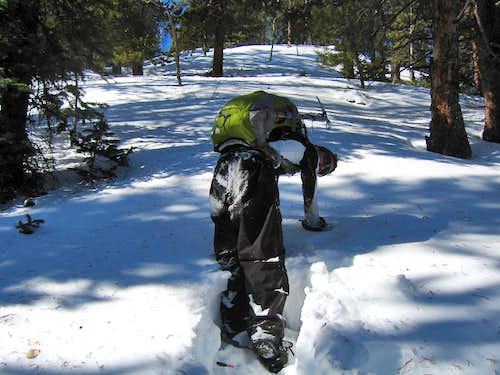 Josh Breaking Trail