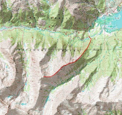 Rinker NE ridge map