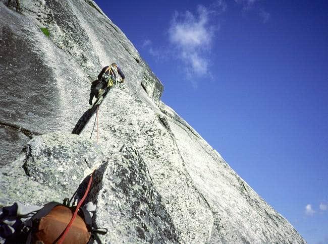The lower E ridge deadends...