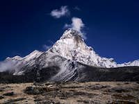 Ama Dablam as seen on the way to camp 1.
