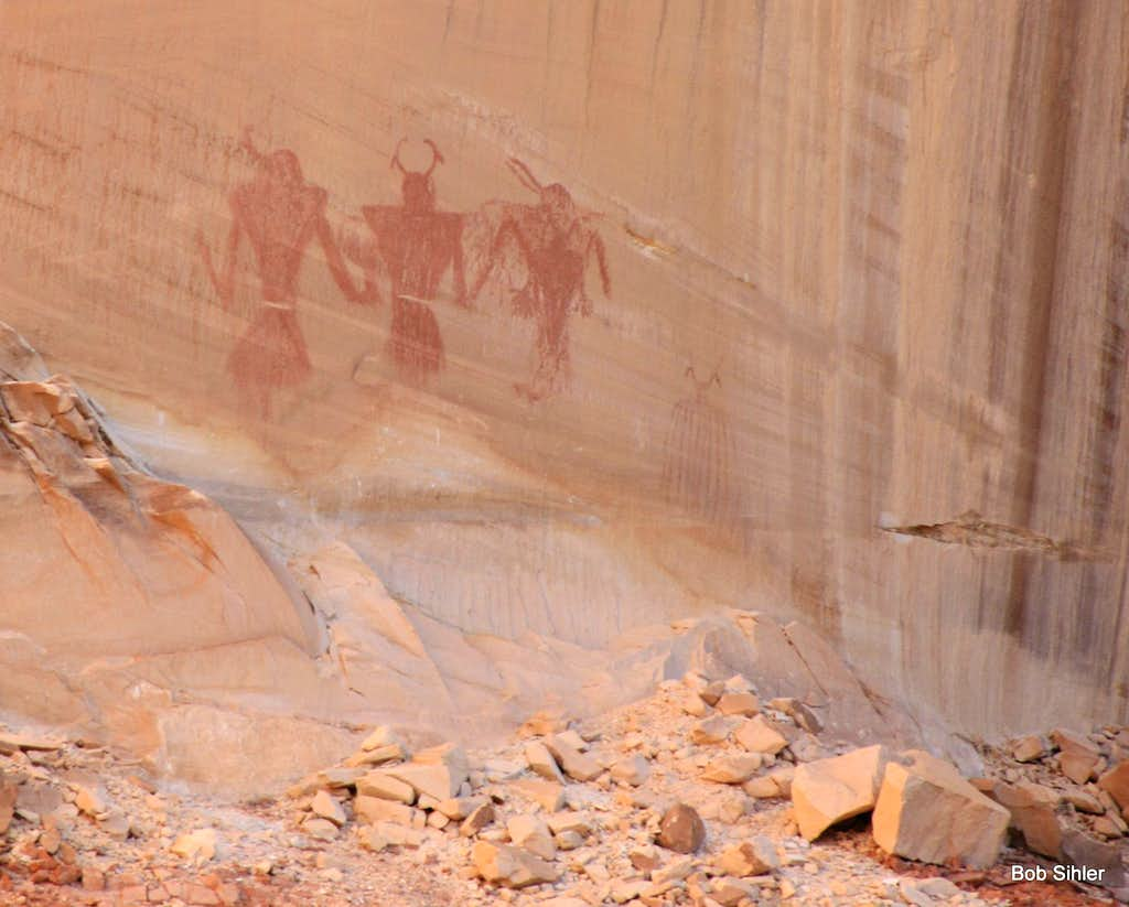 Pictograph Wall in Calf Creek Canyon